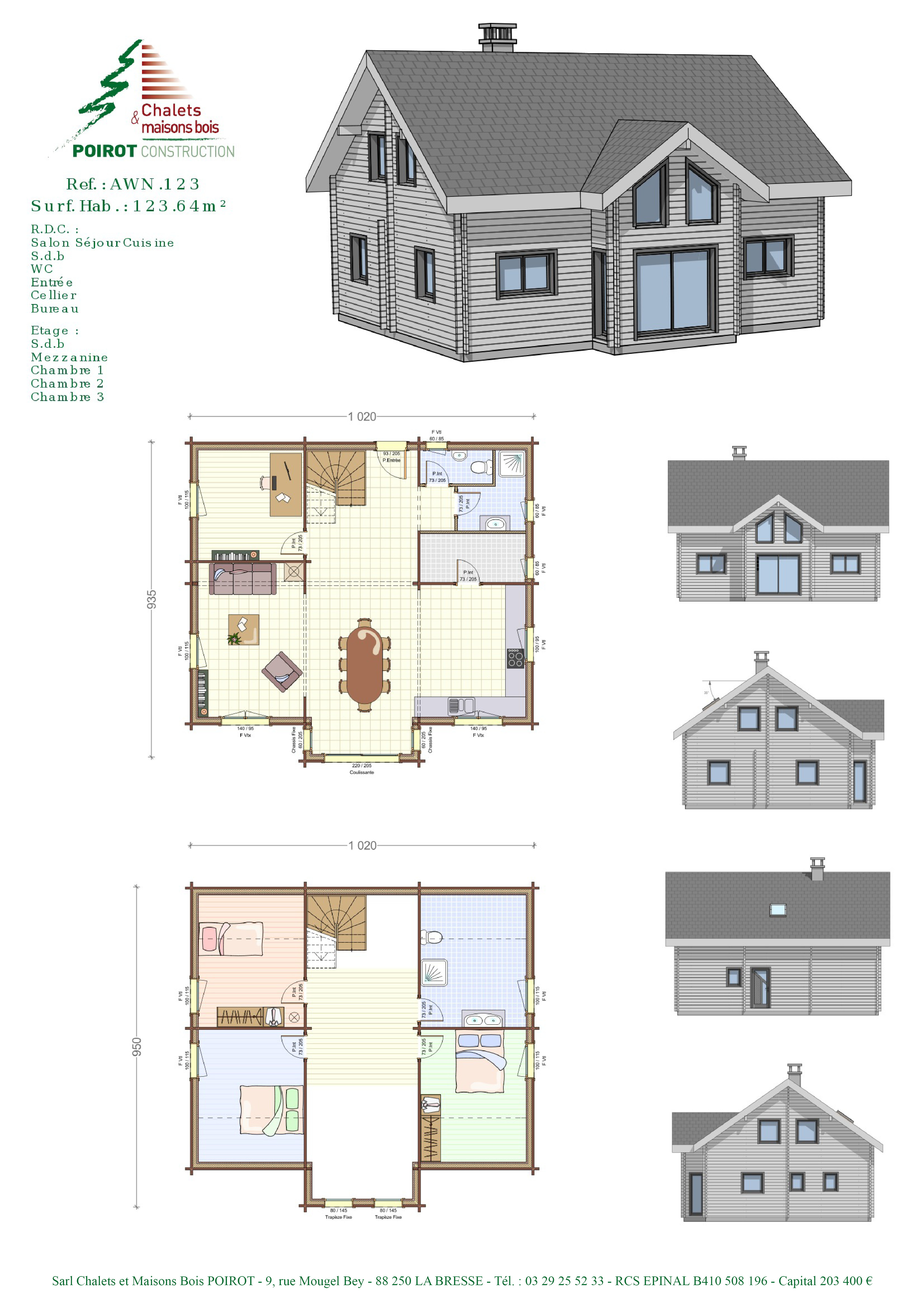 Plan maison villa basse simple for Villa basse moderne avec plan