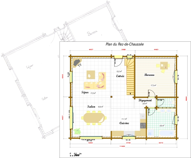 Plan maison bois 60m2 for Construction maison plan